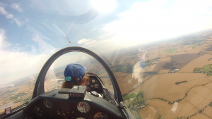 Soaring on a trial flight