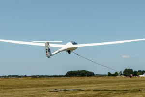 Glider during winch launch