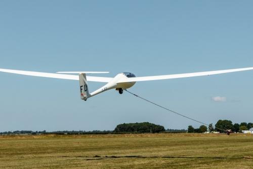 Glider during winch launch